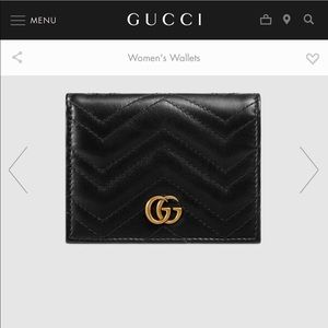 Authentic Gucci Marmot Card Case